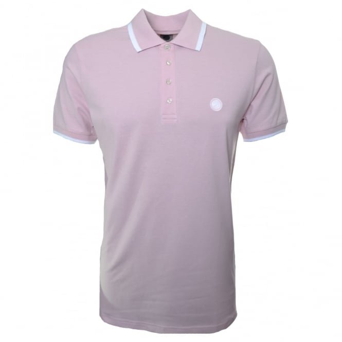 Pretty Green Men's Pink Short Sleeve Polo Shirt