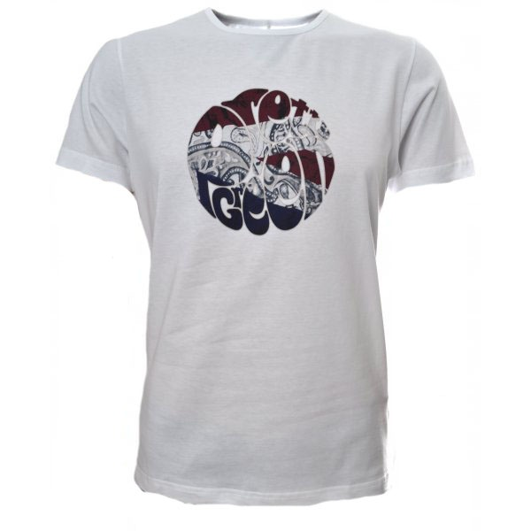 Men 39 S Pretty Green White Union Jack Logo T Shirt
