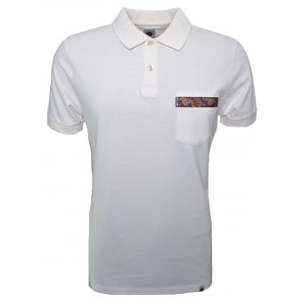 Pretty Green Men's Thornton Antique White Polo Shirt