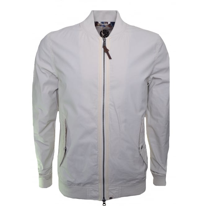 Pretty Green Men's Upton Stone Bomber Jacket