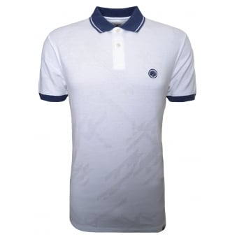 Pretty Green Men's White Kirby Polo Shirt