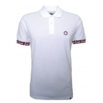 Pretty Green Men's White Plecteom Polo Shirt