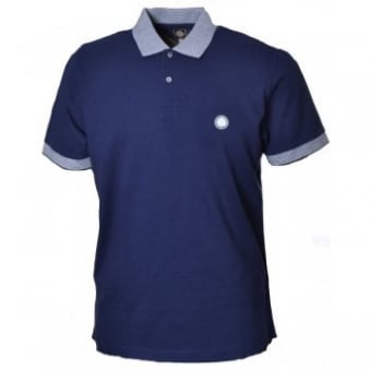 Pretty Green Navy Blue Broadgate Polo Shirt