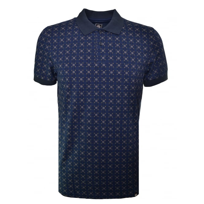 Pretty Green Navy Blue Carville Polo Shirt