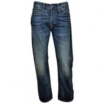 Replay Billstrong Classic Blue Stone Washed Jeans