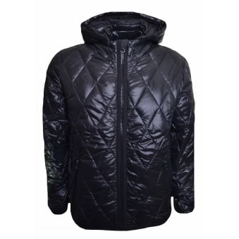 Replay Men's Black Quilted Jacket