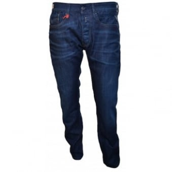 Replay Mens Blue Black NewBill Jeans
