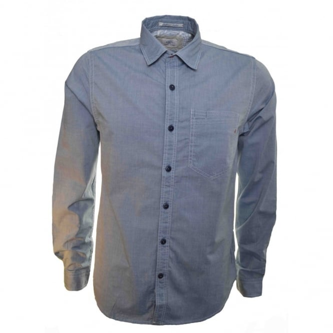 Replay Mens Blue Long Sleeve Shirt