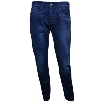 Replay Men's Comfort Fit Dark Blue Newbill Jeans