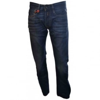 Replay Mens Deep Blue Denim Newbill Jeans