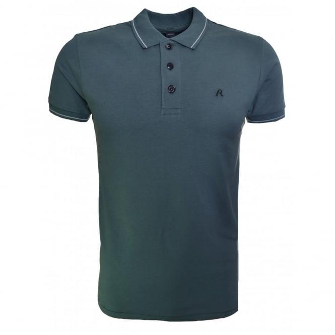 86a9dca0f781 replay men s green polo shirt