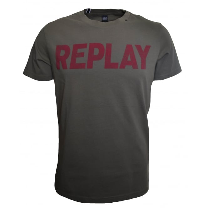 Replay Men's Green T-Shirt