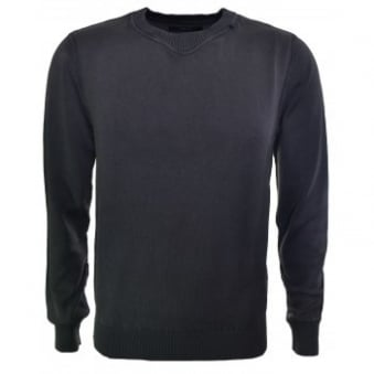 Replay Men's Grey/Brown Knitted Jumper