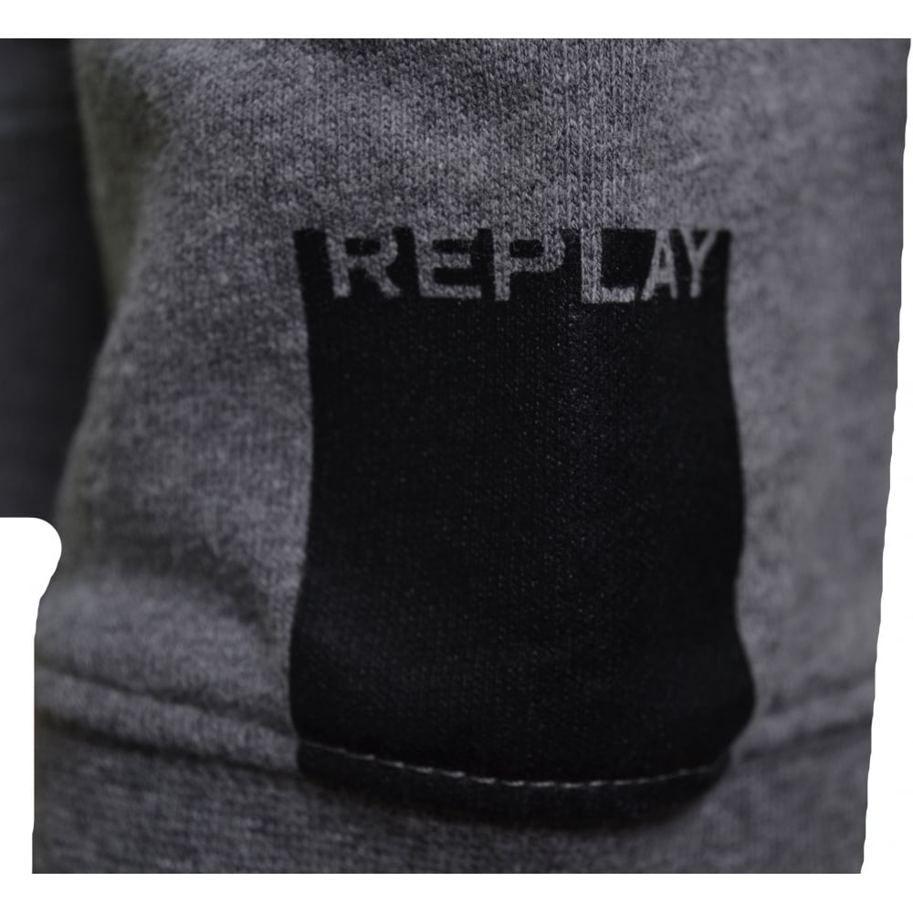 c5ed1294b37 Replay Men  039 s Grey Hooded Zip Through Sweatshirt