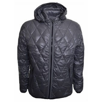 Replay Men's Grey Quilted Jacket