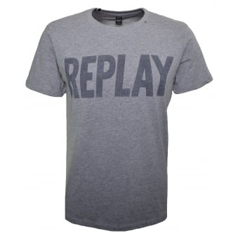 Replay Men's Grey T-Shirt