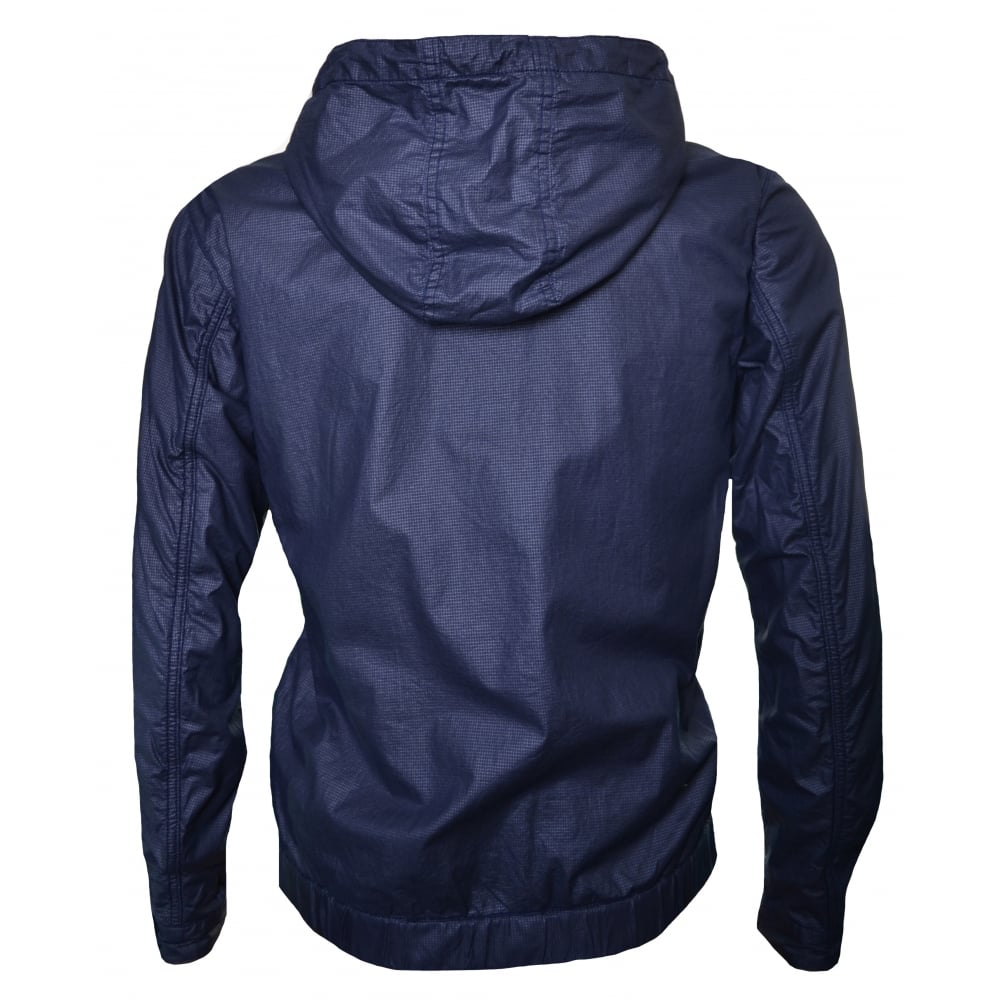 4172619de Replay Replay Men's Navy Blue Hooded Jacket