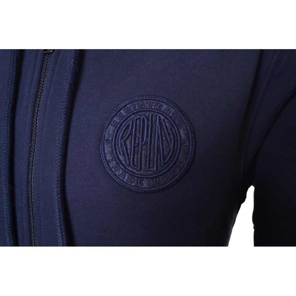 09818a103c7 Replay Men  039 s Navy Blue Hooded Zip Through Sweatshirt