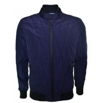 Replay Men's Navy Blue Quilted Jacket