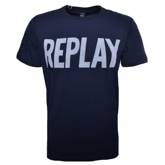 Replay Men's Navy Blue T-Shirt