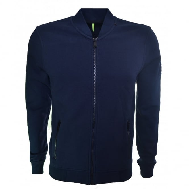 Replay Men's Navy Blue Zip Through Sweatshirt
