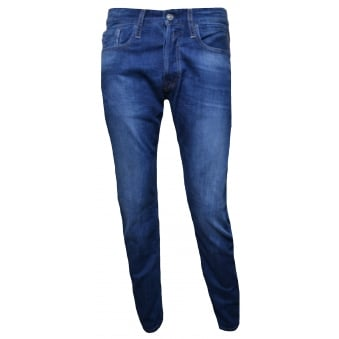 Replay Mens NewBill Comfort Fit Blue Jeans