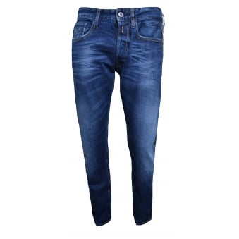 Replay Mens NewBill Comfort Fit Deep Blue Jeans