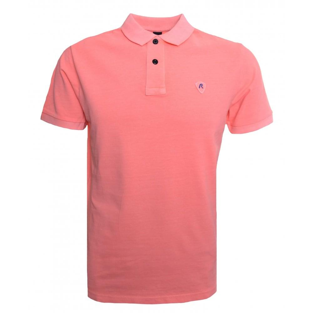 a341c5373313 Replay Men  039 s Orange Polo Shirt