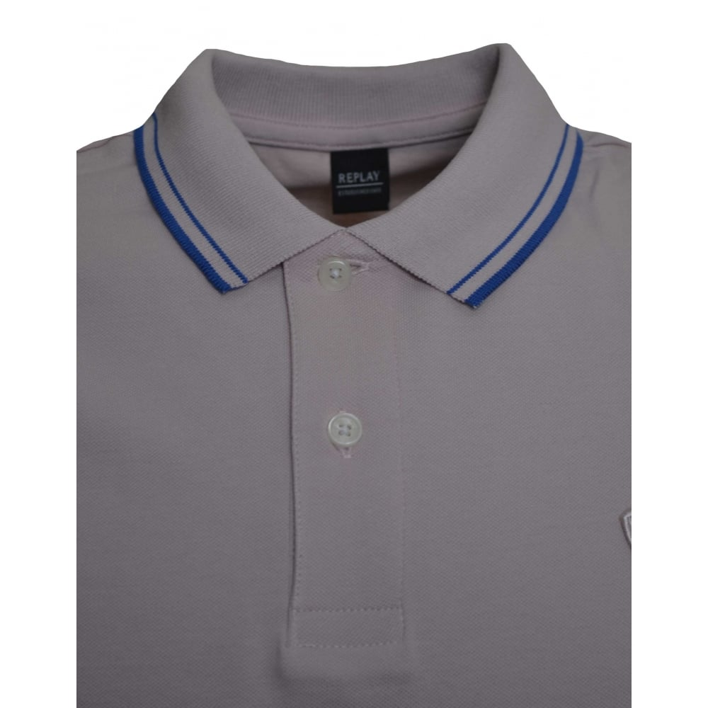Replay Mens Pink Polo