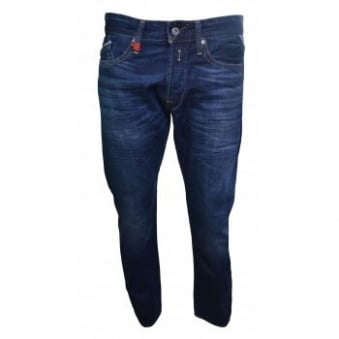 Replay Men's Regular Slim Waitom Deep Blue Jeans