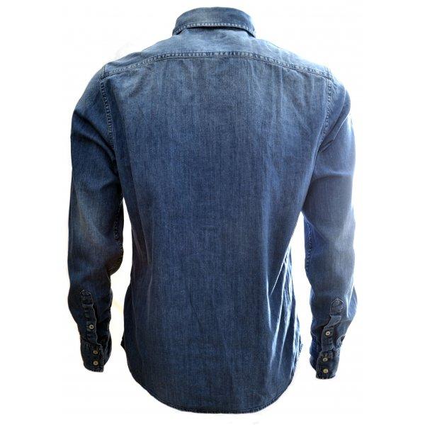 3c46cb9e805 men s replay fc barcelona blue denim zero shirt