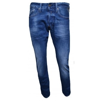 Replay Men's Waitom Regular Slim Fit Blue Jeans