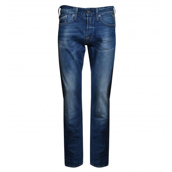 Replay Mens Regular Slim Fit Waitom Jeans