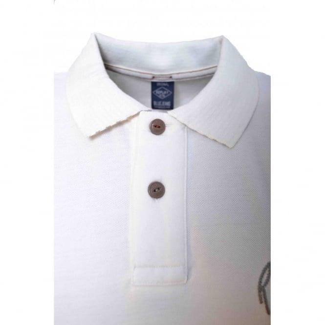5b0b38c4 Replay Mens White Short Sleeve Polo Shirt