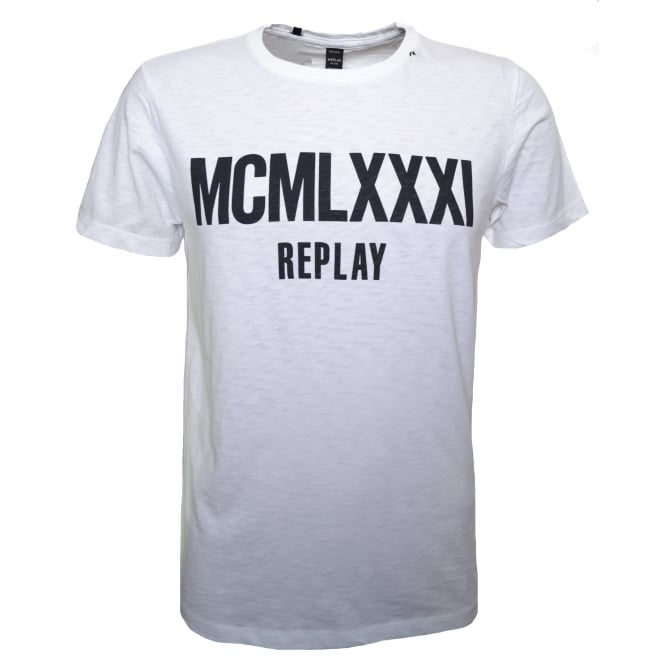 Replay Men's White T-Shirt