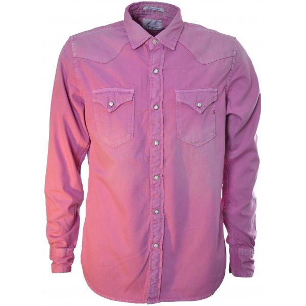 500c0f093 Replay Mens Pink Denim Shirt