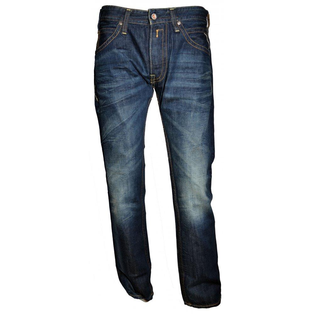 Tillbor Soccer Fit Flat Finish Denim Blue Jeans