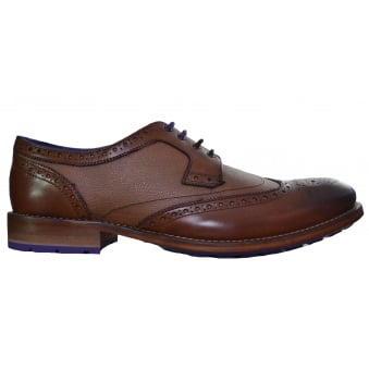 Ted Baker Cassiuss Derby Tan Brogue Shoes