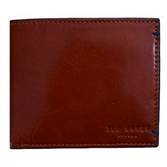 Ted Baker Men's Aunat Bifold Contrast Orange Leather Wallet