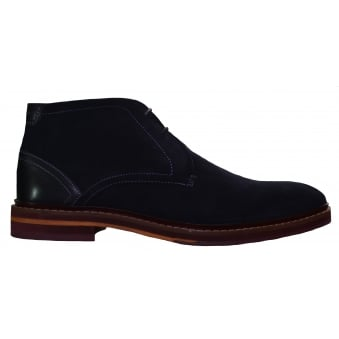 Ted Baker Men's Azzlan Dark Blue Suede Boots