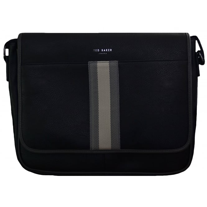 Ted Baker Men's Black Needles Webbing Document Bag