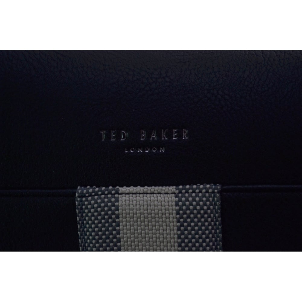 84e64b3d373 Ted Baker Men's Black Needles Webbing Document Bag
