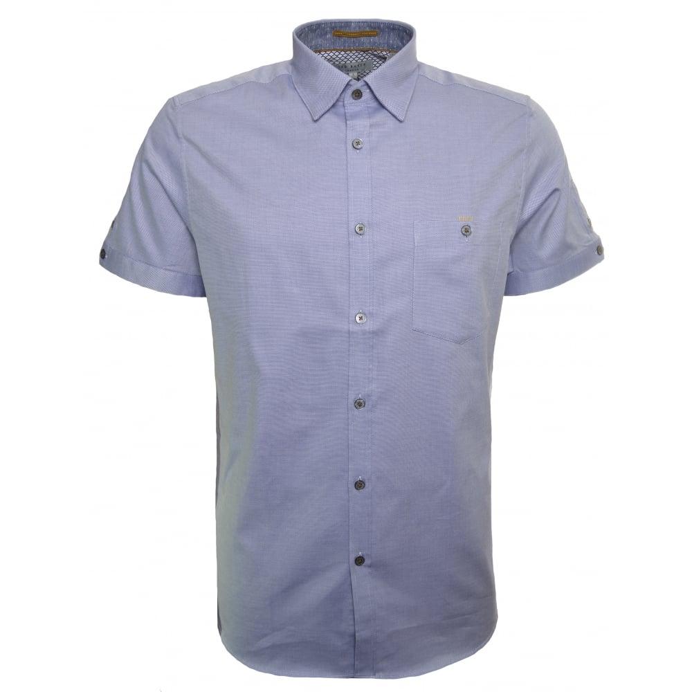 ted baker men 39 s blue beachee short sleeve shirt