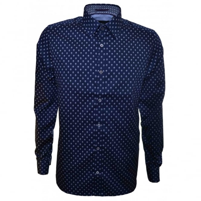 Ted Baker Men's Blue Birdlip Long Sleeve Shirt