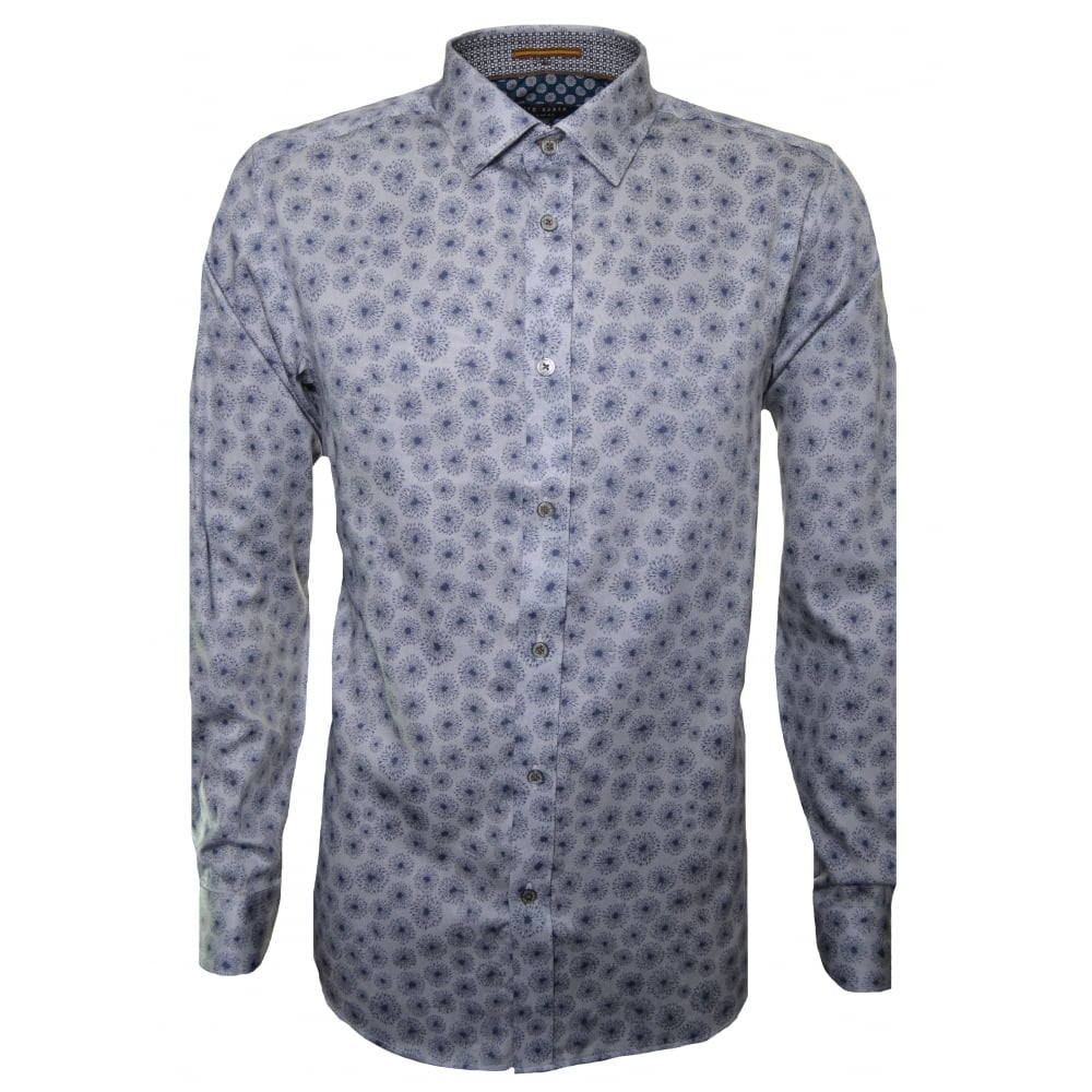 469f4896265ea Ted Baker Men  039 s Blue Dandie Long Sleeve Shirt