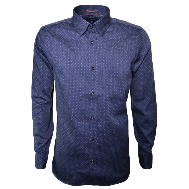 Ted Baker Men's Blue Jakee Long Sleeve Shirt