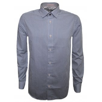e04f4f75a Ted Baker Men s Blue Jenkins Long Sleeved Shirt