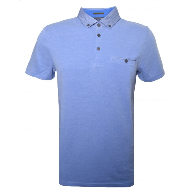 Ted Baker Mens Blue Super Polo Shirt
