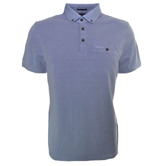 Ted Baker Mens Blue Veranda Polo Shirt