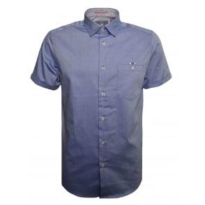 0fe235d9bf76 Ted Baker Men s Blue Wallo Short Sleeved Shirt